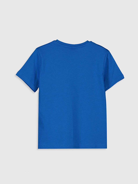 %100 Pamuk Baskılı Normal Bisiklet Yaka Tişört Kısa Kol Erkek Çocuk Güneşte Renk Değiştiren Pamuklu Tişört