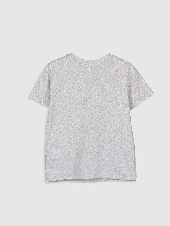 %70 Pamuk %30 Polyester Baskılı Normal Bisiklet Yaka Tişört Kısa Kol Erkek Çocuk Güneşte Renk Değiştiren Tişört
