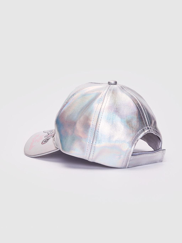 Kız Çocuk Kız Çocuk Deniz Kızı Baskılı Hologram Şapka