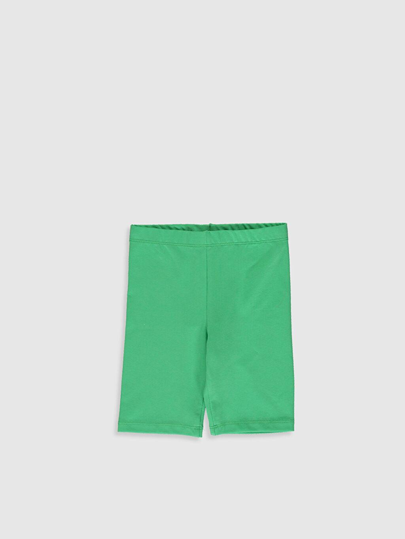 Yeşil Kız Çocuk Pamuklu Basic Tayt 0S2726Z4 LC Waikiki