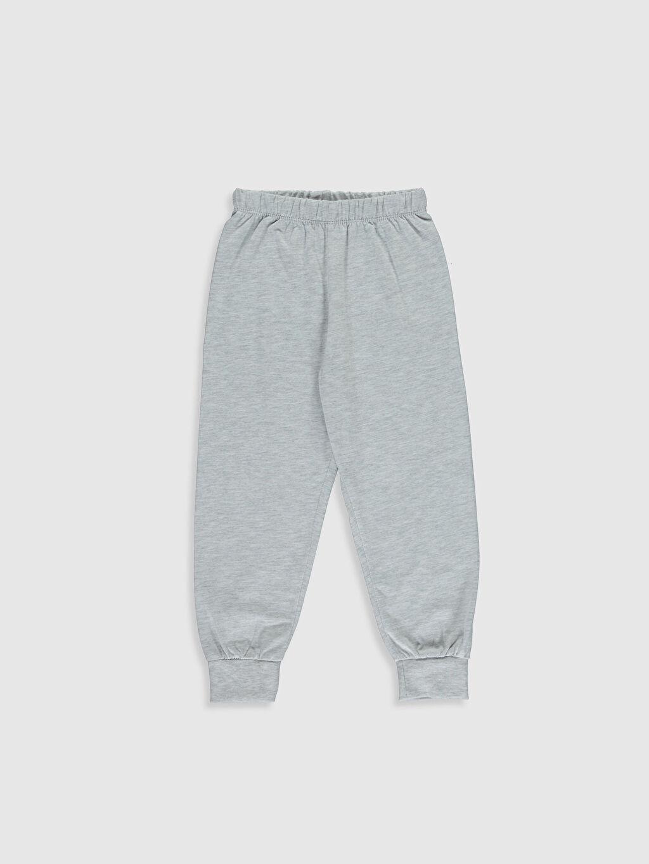%49 Pamuk %51 Polyester Erkek Çocuk Baskılı Pijama Takımı