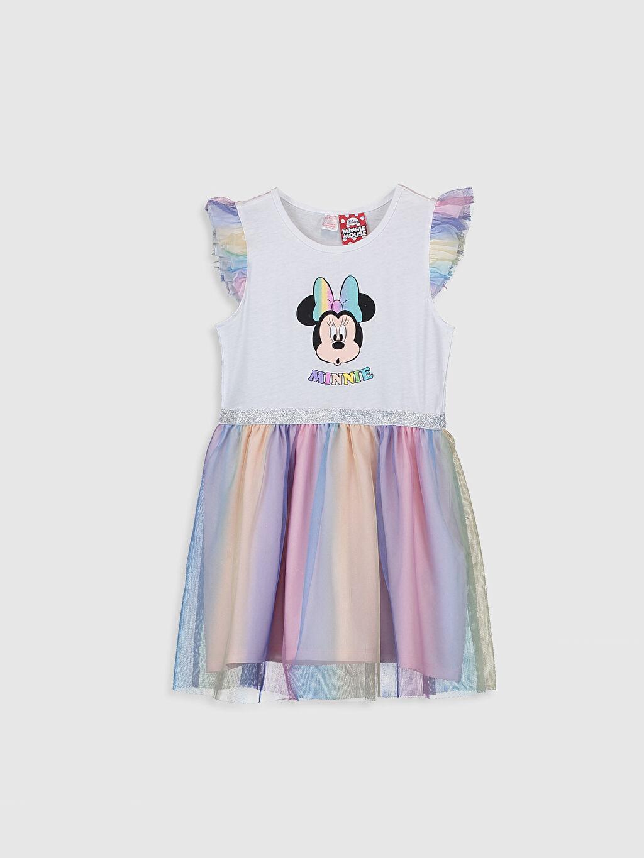 Beyaz Kız Çocuk Minnie Mouse Baskılı Gecelik 0S3106Z4 LC Waikiki