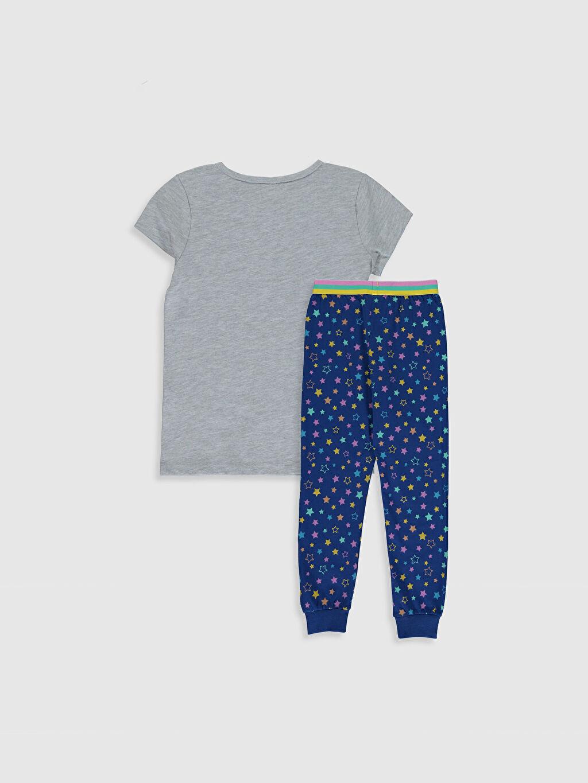 %49 Pamuk %51 Polyester Standart Pijamalar Kız Çocuk Baskılı Pijama Takımı