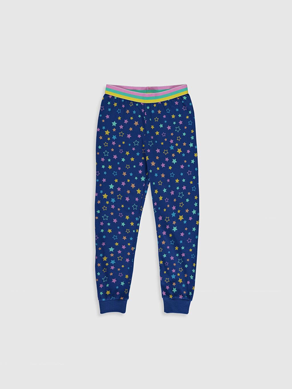 %49 Pamuk %51 Polyester Kız Çocuk Baskılı Pijama Takımı