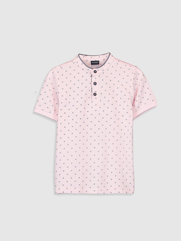 Pembe Erkek Çocuk Baskılı Tişört 0S3293Z4 LC Waikiki