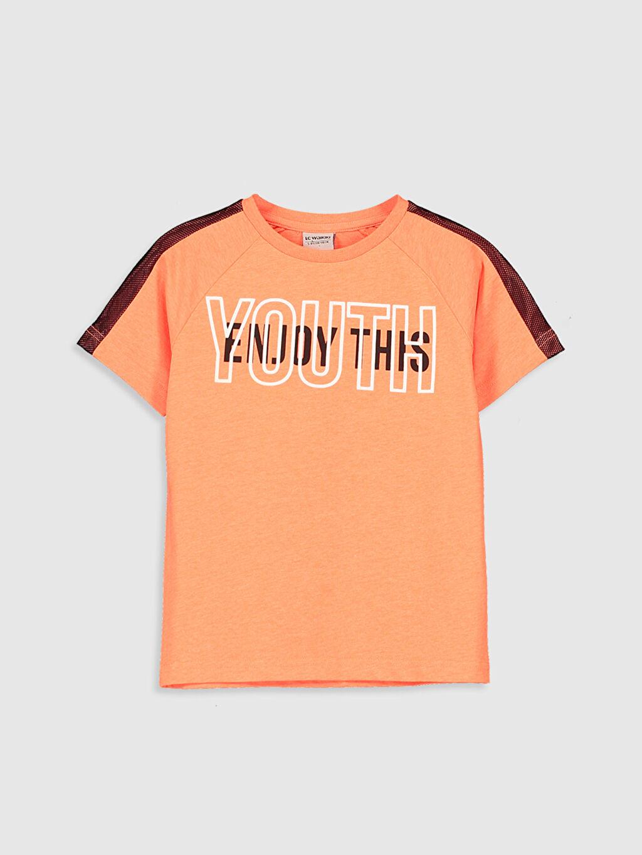 Turuncu Erkek Çocuk Baskılı Tişört 0S3300Z4 LC Waikiki