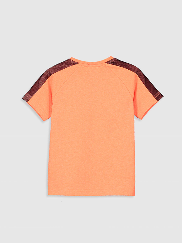%30 Pamuk %70 Polyester Baskılı Normal Bisiklet Yaka Tişört Kısa Kol Erkek Çocuk Baskılı Tişört