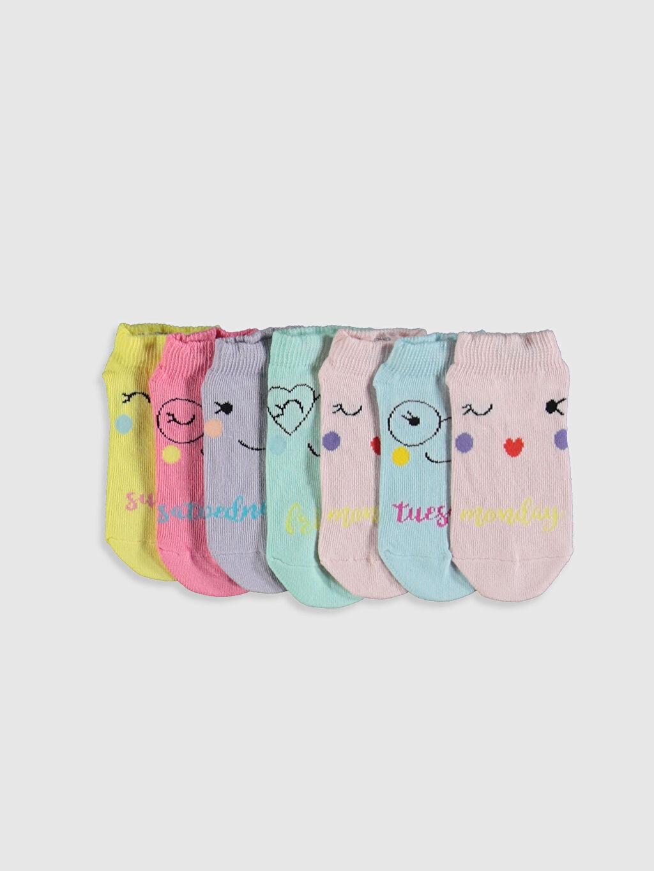 Pembe Kız Çocuk Patik Çorap 7'li 0S3390Z4 LC Waikiki