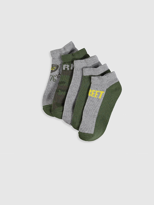 Çok Renkli Erkek Çocuk Patik Çorap 5'li 0S3882Z4 LC Waikiki