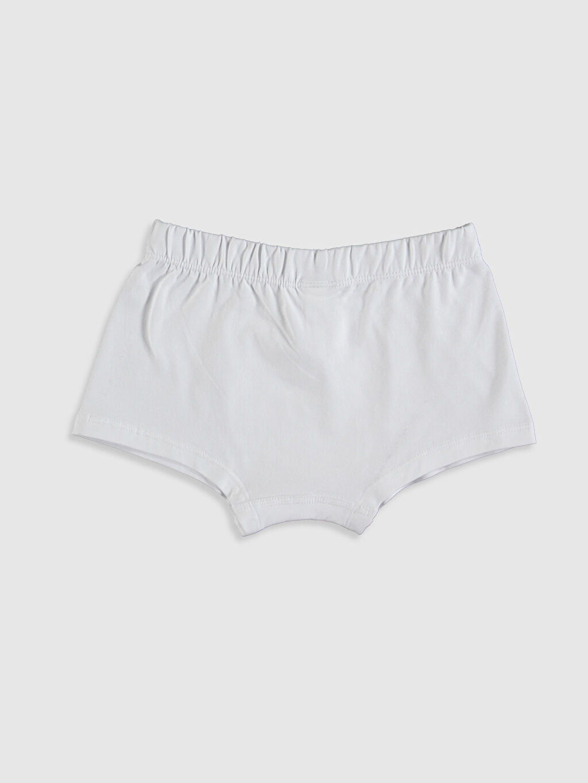 %96 Pamuk %4 Elastan Standart İç Giyim Alt Erkek Çocuk Pamuklu Boxer 3'lü