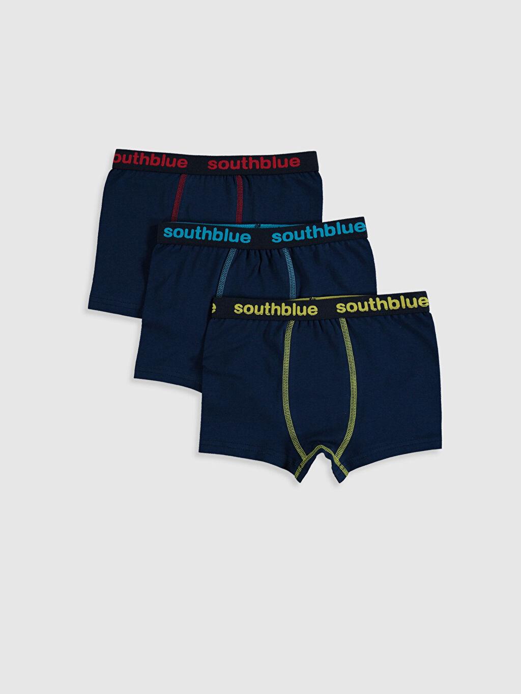 Gri Erkek Çocuk Pamuklu Boxer 3'lü 0S3971Z4 LC Waikiki