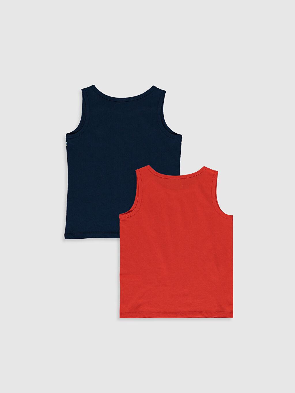 %100 Pamuk Standart İç Giyim Alt Erkek Çocuk Pamuklu Atlet 2'li