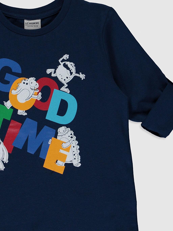 Erkek Çocuk Erkek Çocuk Baskılı Pamuklu Tişört