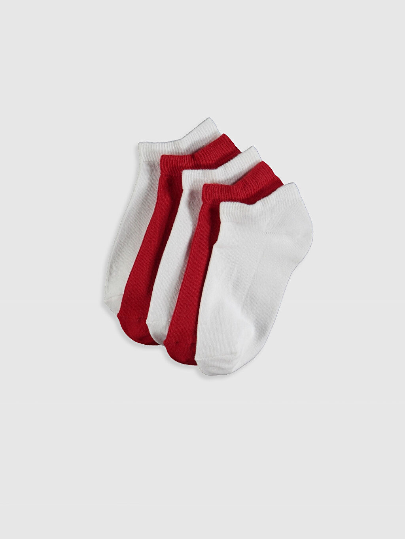 Çok Renkli Erkek Çocuk Patik Çorap 5'li 0S4063Z4 LC Waikiki