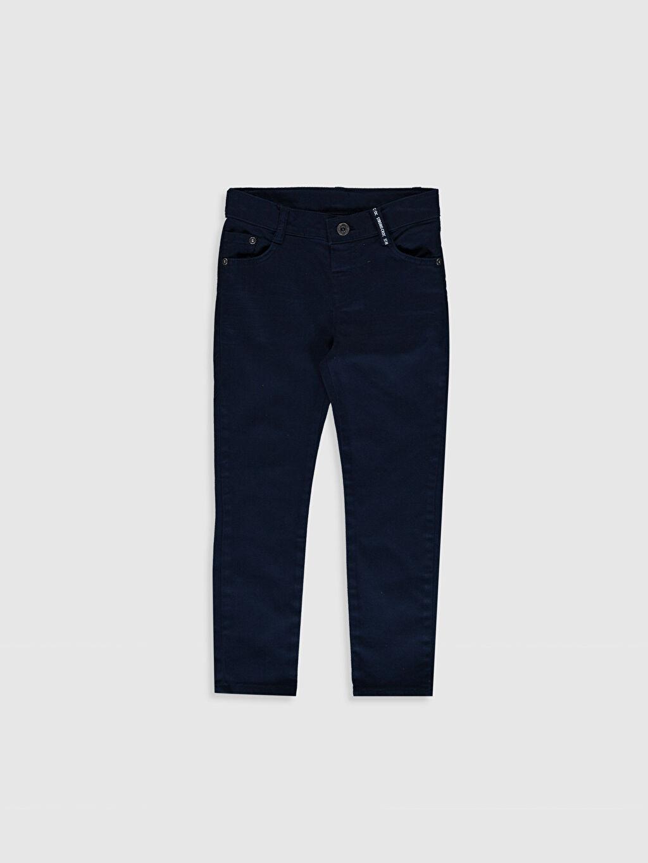 Lacivert Erkek Çocuk Super Slim Gabardin Pantolon 0S4240Z4 LC Waikiki