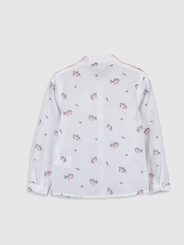 Kız Çocuk Kız Çocuk Unicorn Desenli Pamuklu Gömlek