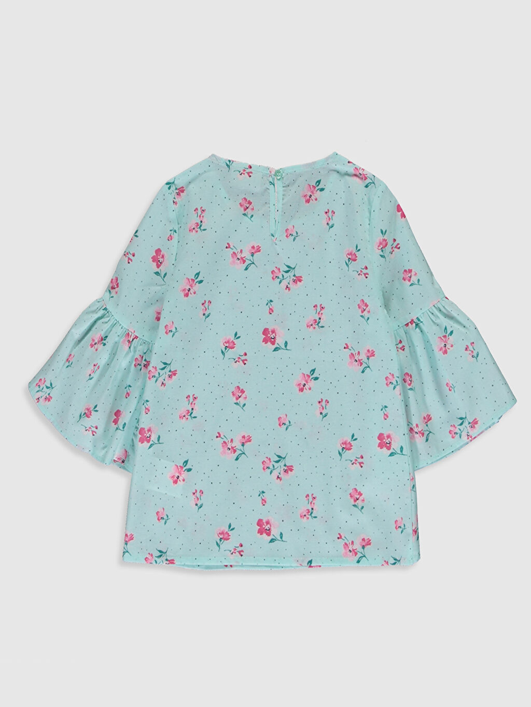 %100 Pamuk Standart Desenli Bluz Kız Çocuk Çiçekli Pamuklu Bluz