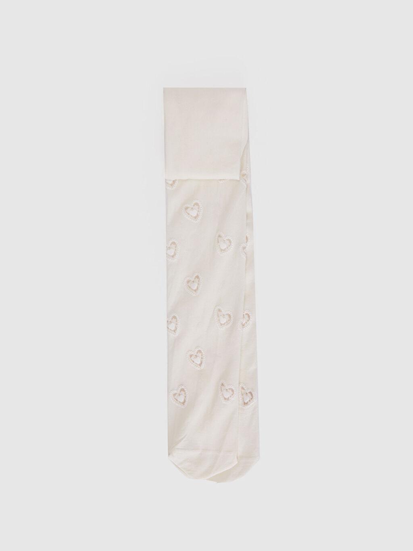 Ekru Kız Çocuk Külotlu Çorap 0S4378Z4 LC Waikiki