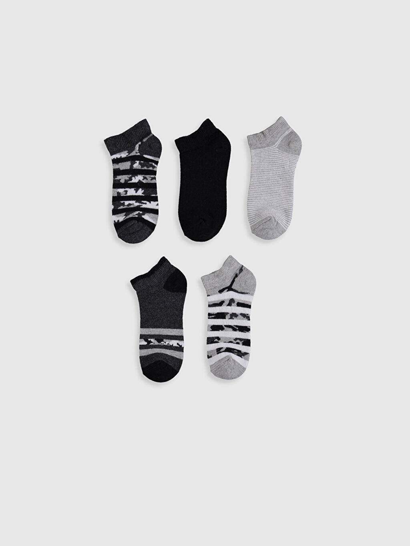 %70 Pamuk %17 Polyester %12 Poliamid %1 Elastan  Erkek Çocuk Patik Çorap 5'li