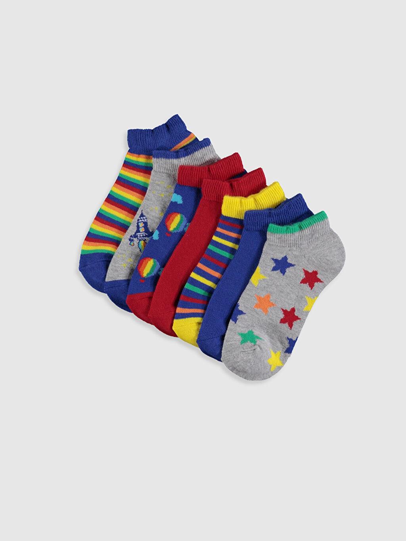 Çok Renkli Erkek Çocuk Patik Çorap 7'li 0S4422Z4 LC Waikiki