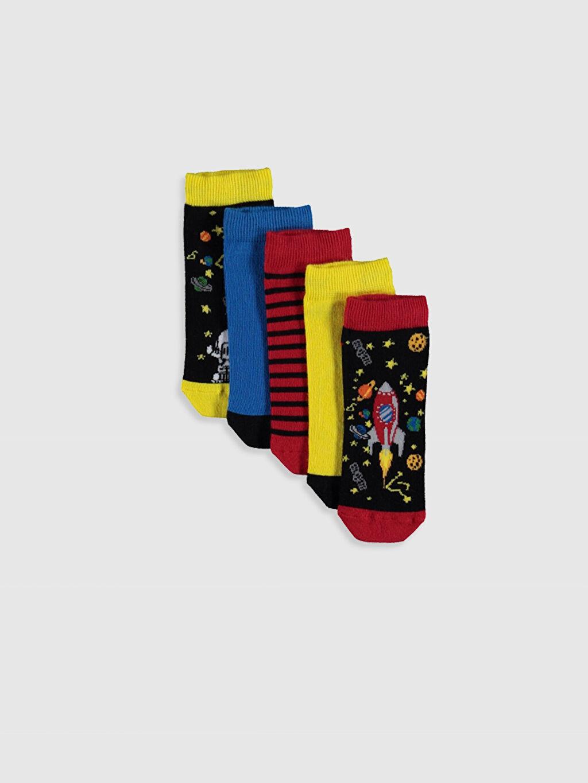 Çok Renkli Erkek Çocuk Patik Çorap 5'li 0S4443Z4 LC Waikiki