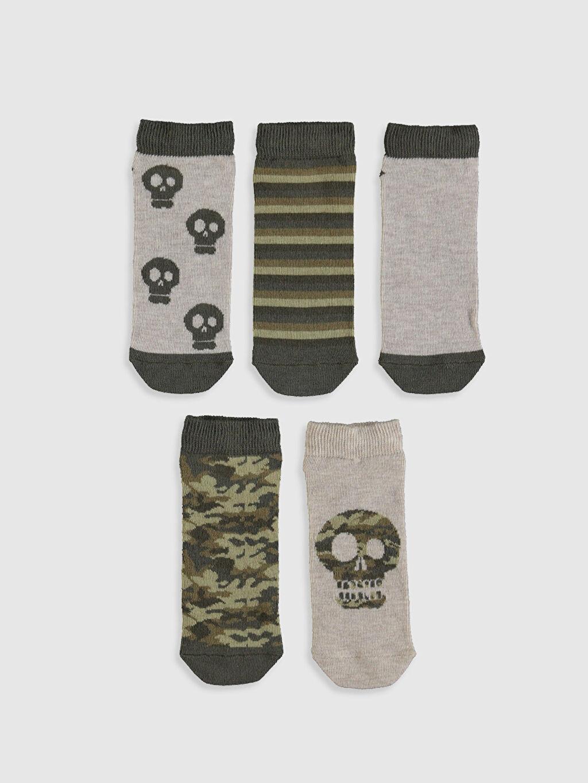 %68 Pamuk %18 Polyester %12 Poliamid %2 Elastan  Erkek Çocuk Patik Çorap 5'li