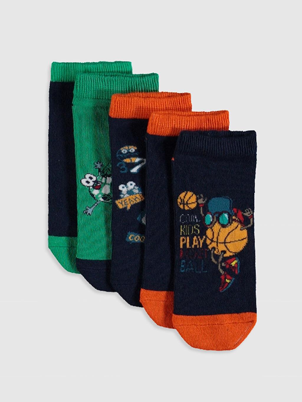 Çok Renkli Erkek Çocuk Patik Çorap 5'li 0S4469Z4 LC Waikiki