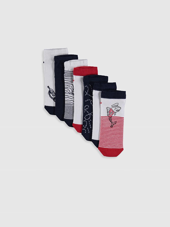 Çok Renkli Erkek Çocuk Patik Çorap 7'li 0S4484Z4 LC Waikiki