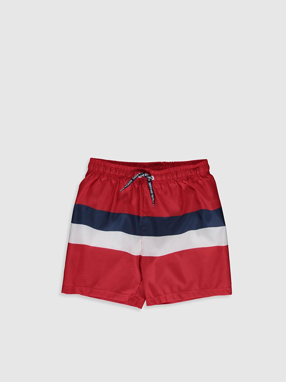 Kırmızı Erkek Çocuk Deniz Şortu 0S4544Z4 LC Waikiki