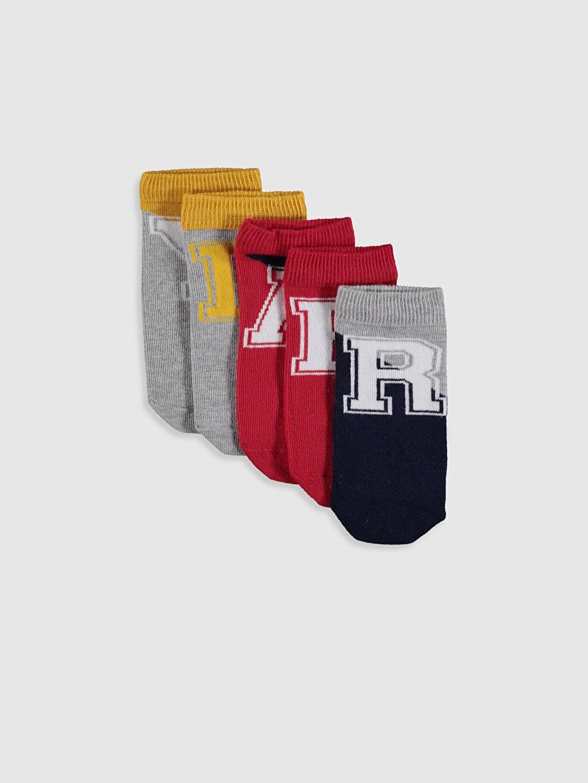 Çok Renkli Patik Çorap 5'li 0S4619Z4 LC Waikiki