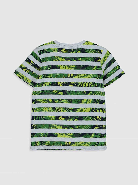 %98 Pamuk %2 Polyester Normal Bisiklet Yaka Baskılı Tişört Kısa Kol Erkek Çocuk Baskılı Pamuklu Tişört