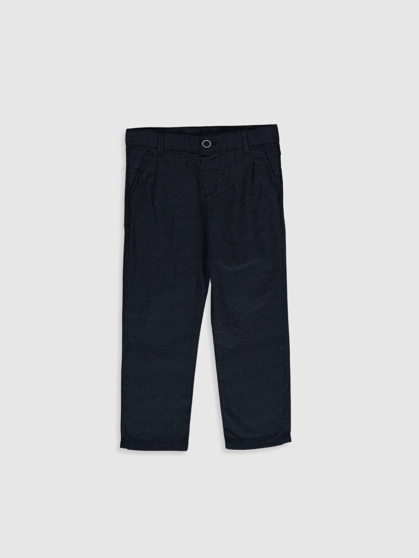 Lacivert Erkek Çocuk Armürlü Chino Pantolon 0S4769Z4 LC Waikiki