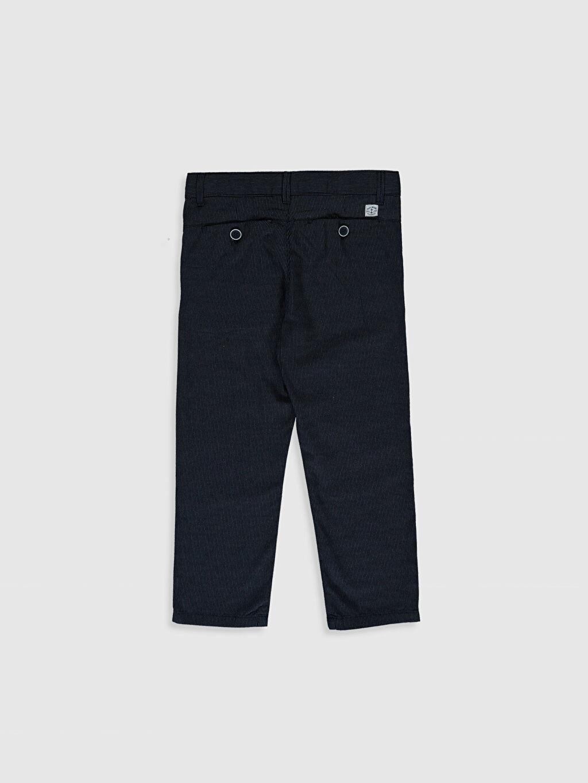 %100 Pamuk Standart Normal Bel Erkek Çocuk Armürlü Chino Pantolon