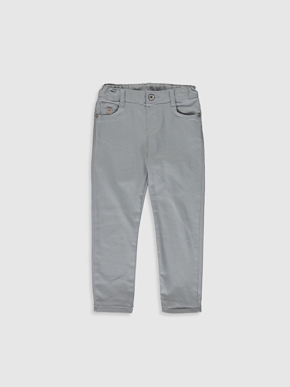 Gri Erkek Çocuk Super Slim Gabardin Pantolon 0S4879Z4 LC Waikiki