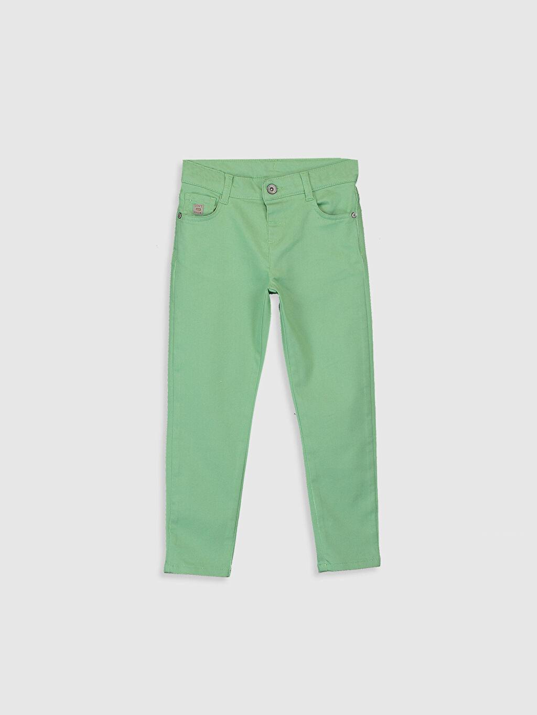 Yeşil Erkek Çocuk Super Slim Gabardin Pantolon 0S4879Z4 LC Waikiki