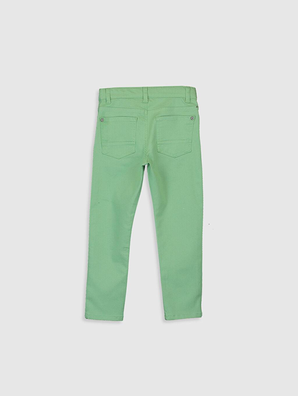 %66 Pamuk %30 Polyester %4 Elastan Dar Normal Bel Erkek Çocuk Super Slim Gabardin Pantolon