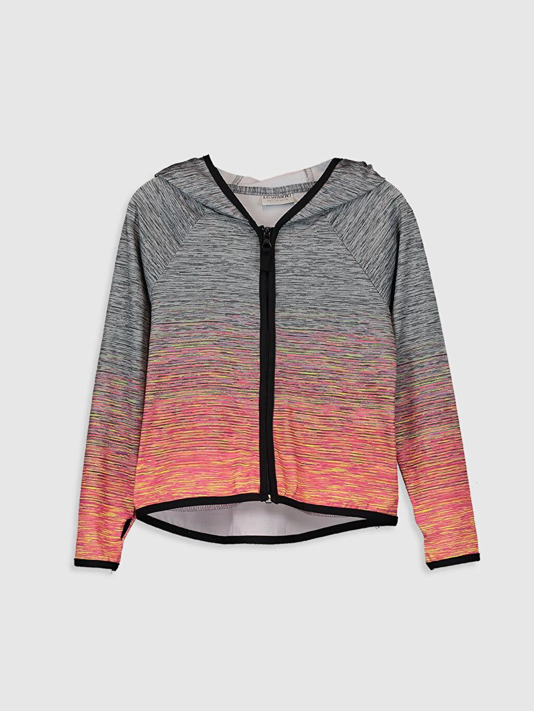 Çok Renkli Kız Çocuk Fermuarlı Kapüşonlu Sweatshirt 0S4971Z4 LC Waikiki