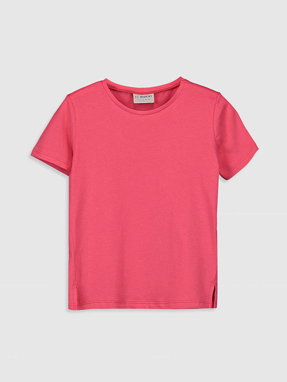 Kırmızı Kız Çocuk Pamuklu Basic Tişört 0S4993Z4 LC Waikiki