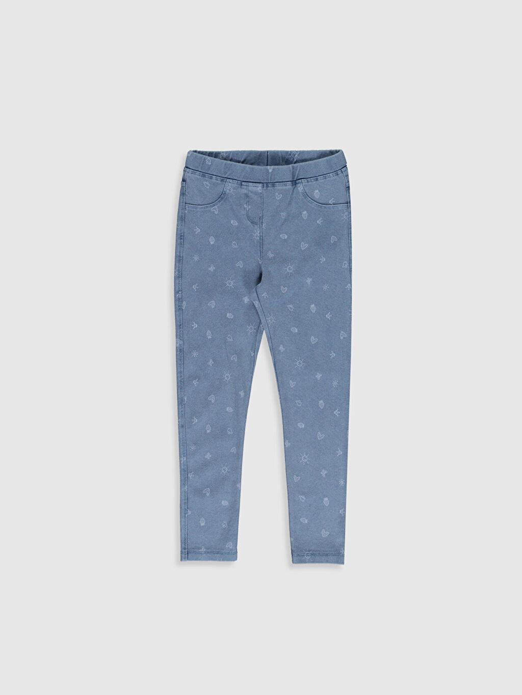Mavi Kız Çocuk Baskılı Uzun Tayt 0S4996Z4 LC Waikiki
