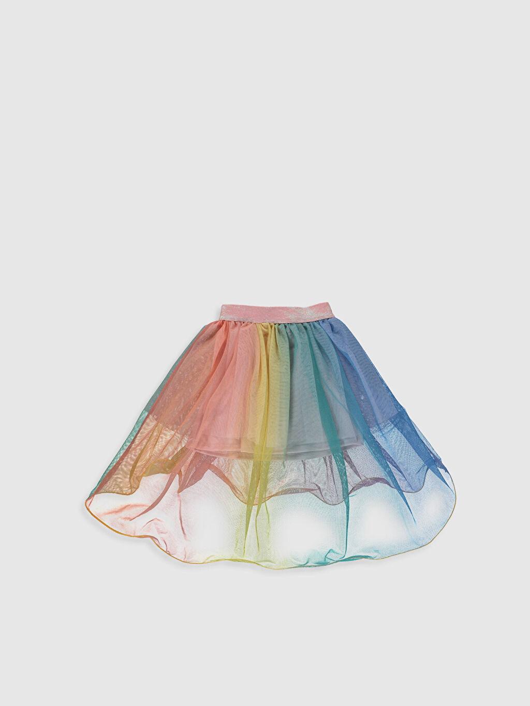 %100 Polyester %100 Polyester Diz Üstü Düz Kız Çocuk Tüllü Etek