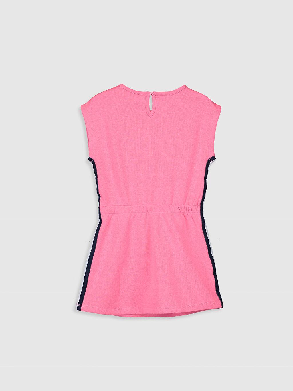 %31 Pamuk %69 Polyester Diz Üstü Desenli Kız Çocuk Pul İşlemeli Elbise