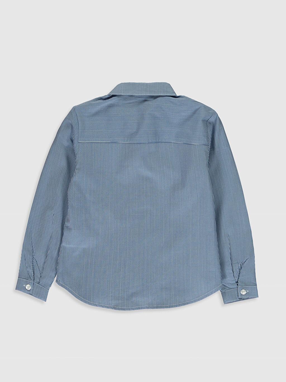 %100 Pamuk  Kız Çocuk Çizgili Poplin Gömlek