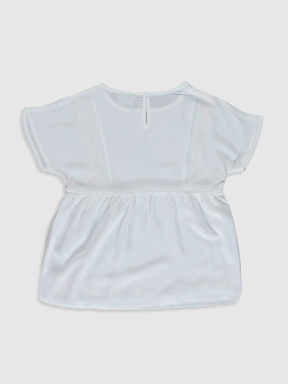 %100 Viskoz Standart Desenli Kısa Kol Bluz Kız Çocuk Desenli Viskon Bluz