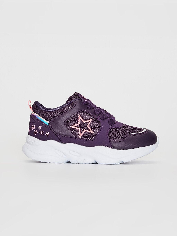 Mürdüm Kız Çocuk Bağcıklı Aktif Spor Ayakkabı 0S5157Z4 LC Waikiki