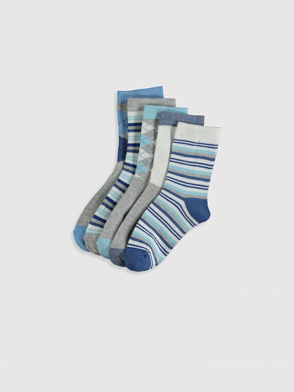 Çok Renkli Erkek Çocuk Soket Çorap 5'li 0S5232Z4 LC Waikiki