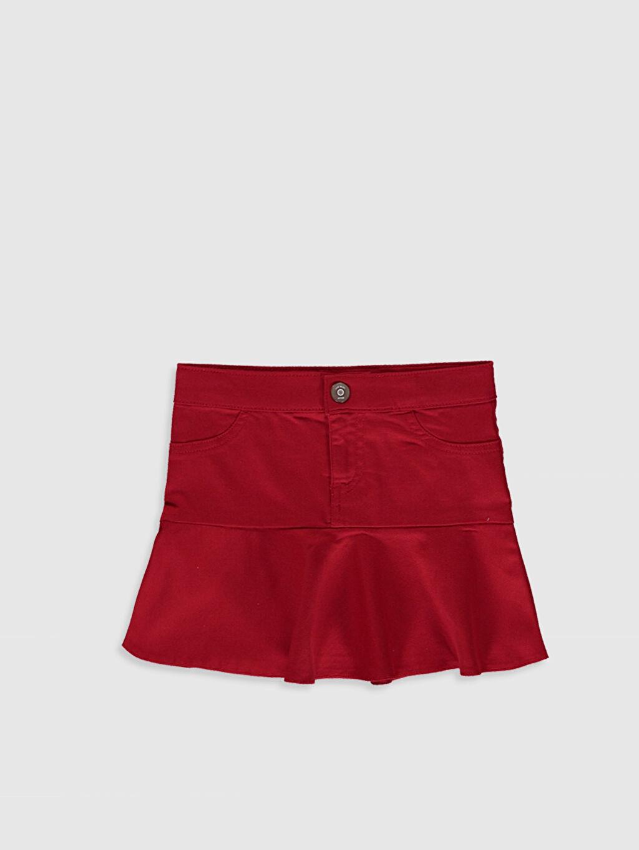 Kırmızı Kız Çocuk Fırfırlı Etek 0S5249Z4 LC Waikiki