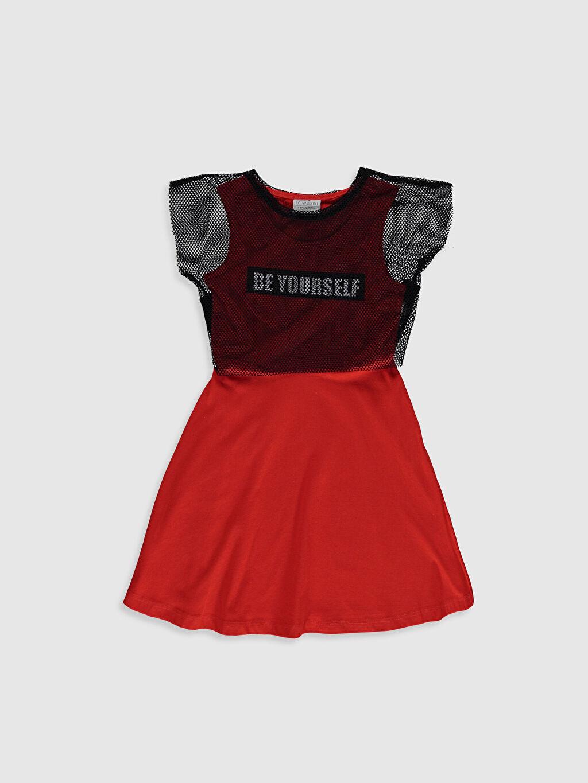 Siyah Kız Çocuk Elbise ve File Tişört 0S5442Z4 LC Waikiki