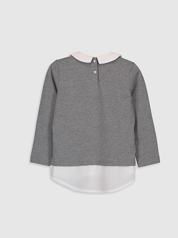 %50 Pamuk %50 Polyester Standart Baskılı Tişört Diğer Uzun Kol Kız Çocuk Baskılı Uzun Kollu Tişört