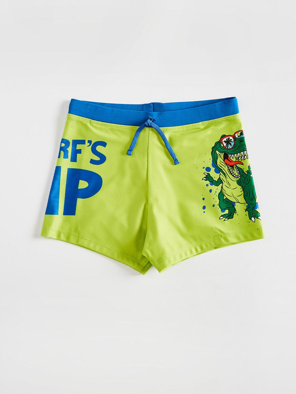 Yeşil Erkek Çocuk Baskılı Boxer Mayo 0S5556Z4 LC Waikiki