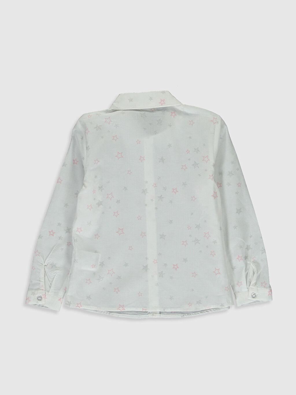 %100 Pamuk  Kız Çocuk Baskılı Poplin Gömlek